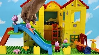Peppa Pig Blocks Mega House Construction Set With Water Slide Lego Building #5