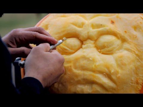 High Speed Pumpkin Carving