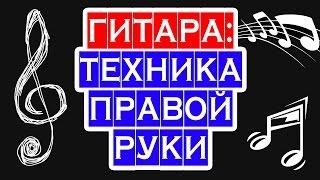 ГИТАРА И ПРАВАЯ РУКА — бой, как играть правой рукой ☺ PIROLIZ .COM
