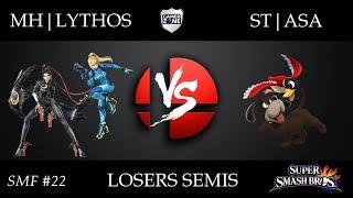 SMF #22 - MH|Lythos (Bayonetta) vs ST|Asa (Duck Hunt) - Losers Semis