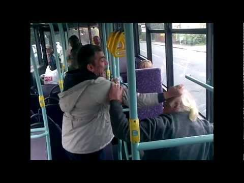 old men fight on the bus