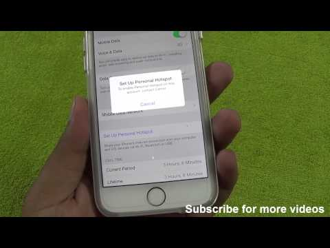 How To Enable & Fix Personal HotSpot on this account Contact Carrier Issue iOS 8 iPhone 6 or 6 plus