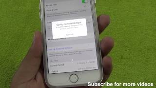 How To Enable & Fix Personal HotSpot on this account Contact Carrier Issue iOS 8 iPhone 6 or 6 plus thumbnail