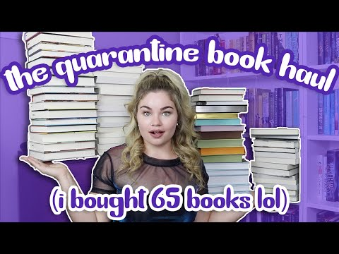 I bought 65 books in quarantine so it's time for a book haul!!!