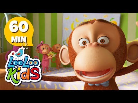 Five Little Monkeys - Great Songs for Children | LooLoo Kids