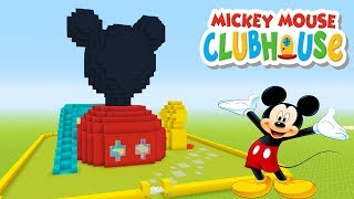 "Minecraft Tutorial: How To Make A Mickey Mouse Clubhouse House ""Mickey Mouse Clubhouse"""
