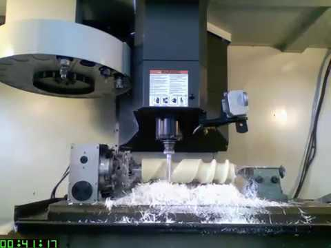 HAAS VF-4 Multi-Axis Mill Complete Feed Screw Machining
