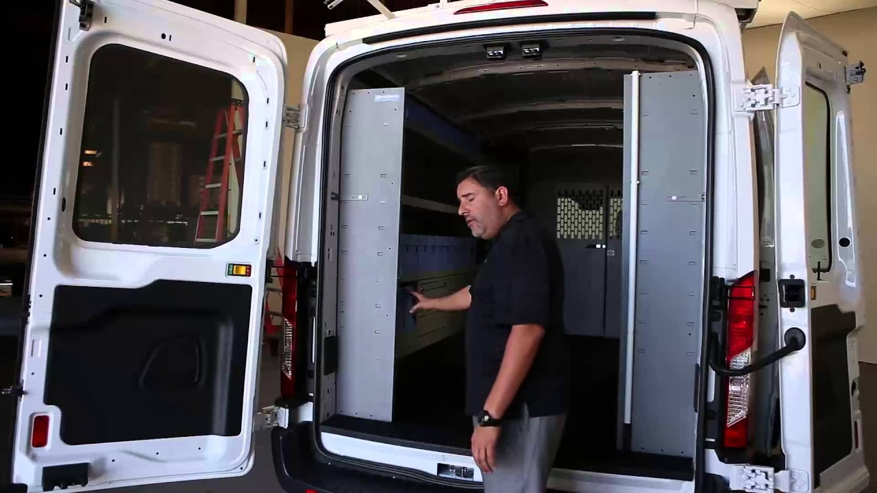 Ford Transit Cargo Van Shelving Storage System Youtube
