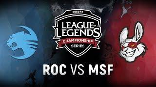 ROC vs. MSF  - Week 4 Day 2 | EU LCS Spring Split |  Team Roccat vs. Misfits Gaming (2018)