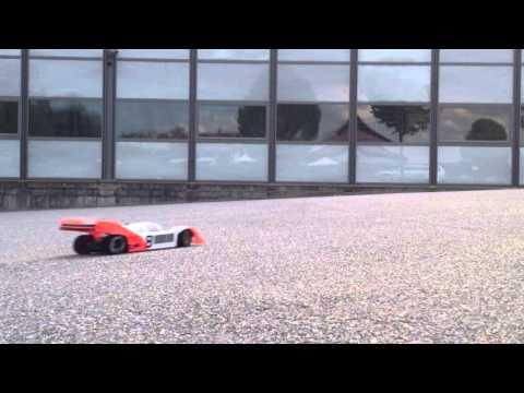 Tamiya F103 on dusty racing track