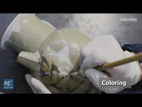 Incredible! Watch how Chinese researchers restore broken antique porcelain