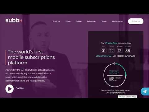 SubBit: The World's First Smart Subscriptions Platform
