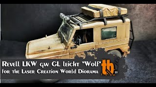 """Revell LKW gw GL leicht """"Wolf"""" for the Diorama with Laser Creation World, scale 1:35"""