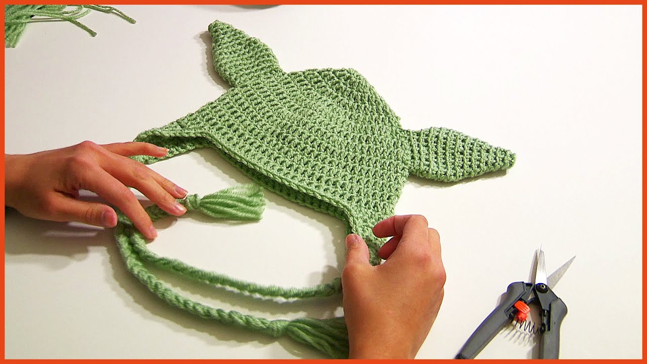 Crochet Tutorial: Yoda Hat from Star Wars - YouTube