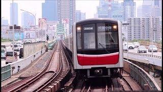 大阪メトロ御堂筋線 西中島南方駅に千里中央行き30000系が到着