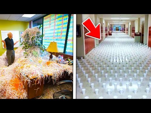 TOP 5 BEST SENIOR PRANK CAUGHT ON CAMERA!! (Funniest Senior Pranks GONE WRONG 2017)