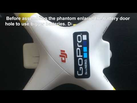 Dji Phantom 1 Upgrade to 5000 mah or bigger with FPV and Gimbal