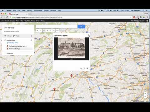 Using Google Maps to Explore the Civil War