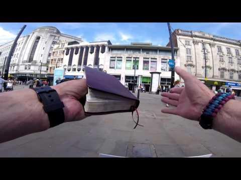 The Street Preacher (Jimmy Hamilton) in Manchester!
