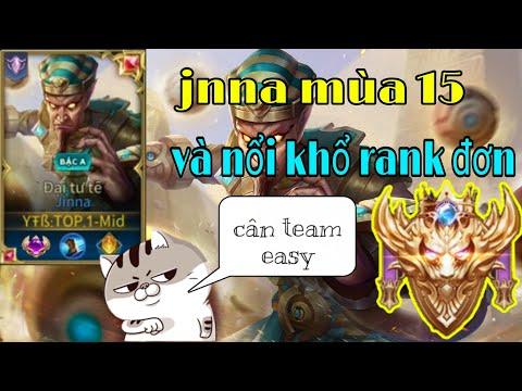 [TOP.1 Mid] Jinna mùa 15 tưởng không mạnh mà mạnh không tưởng khi đi rank đơn | Liên Quân Mobile