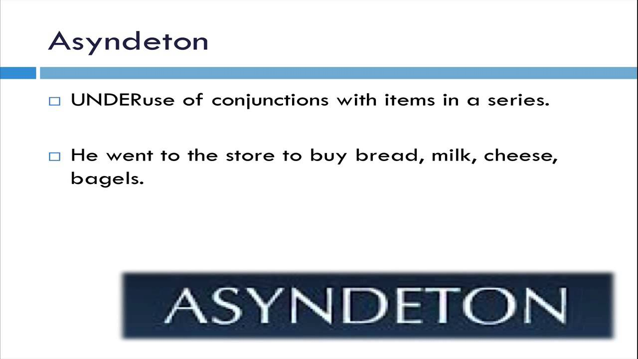 Asyndeton literary term