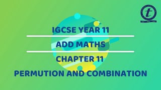 IGCSE YEAR 11 ADDMATHS CHAPTER 11 LESSON 1