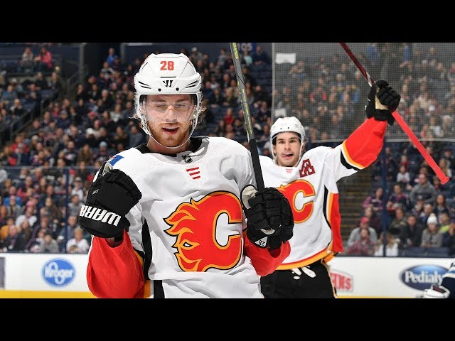 Flames' offense produces nine goals against Blue Jackets