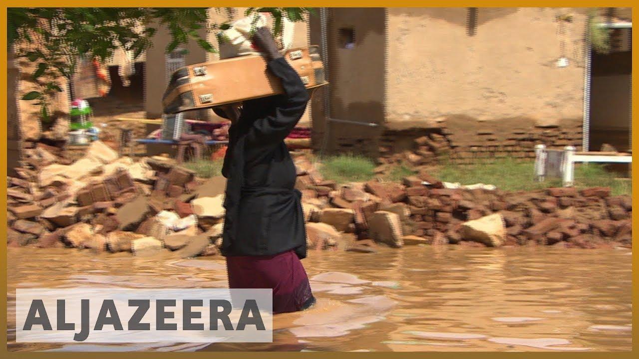 AlJazeera English:Sudan floods kill scores, displace thousands