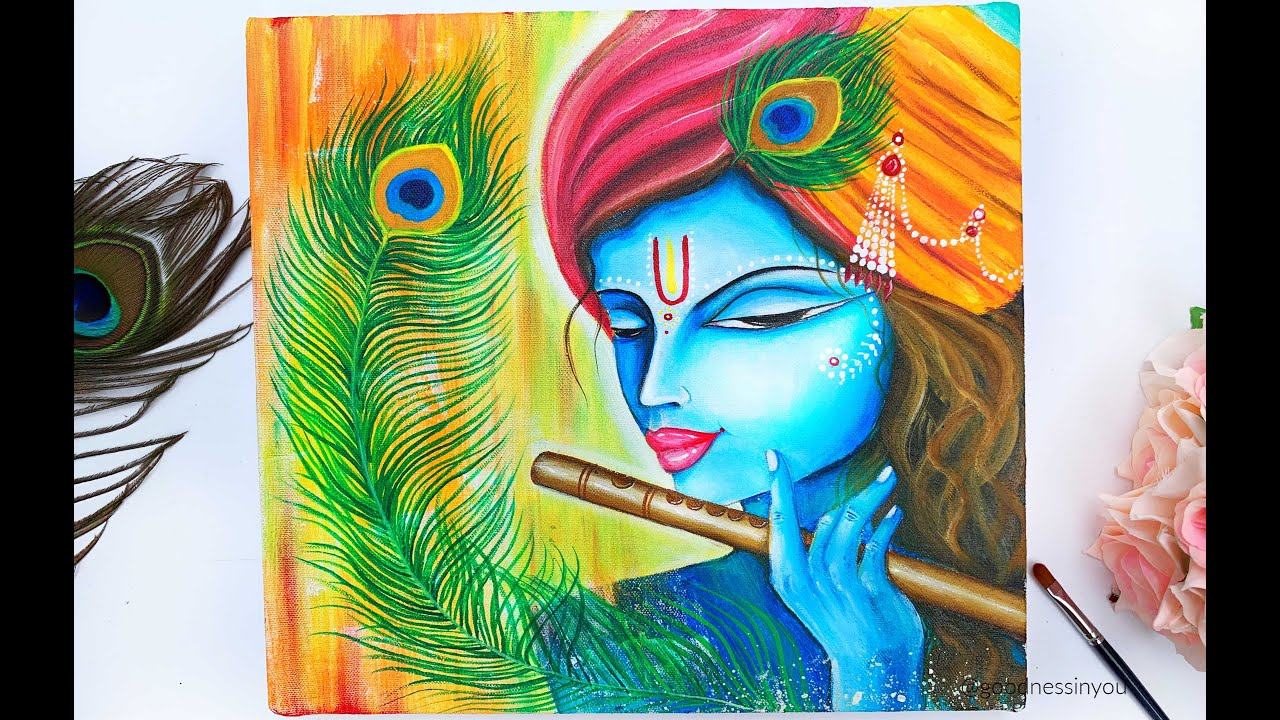 Step By Step Krishna Painting For Beginners Janmasthami Special