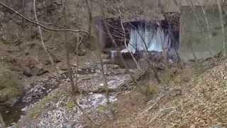 広河原逆川林道 《凍結した砂防ダム》 The small dam which froze