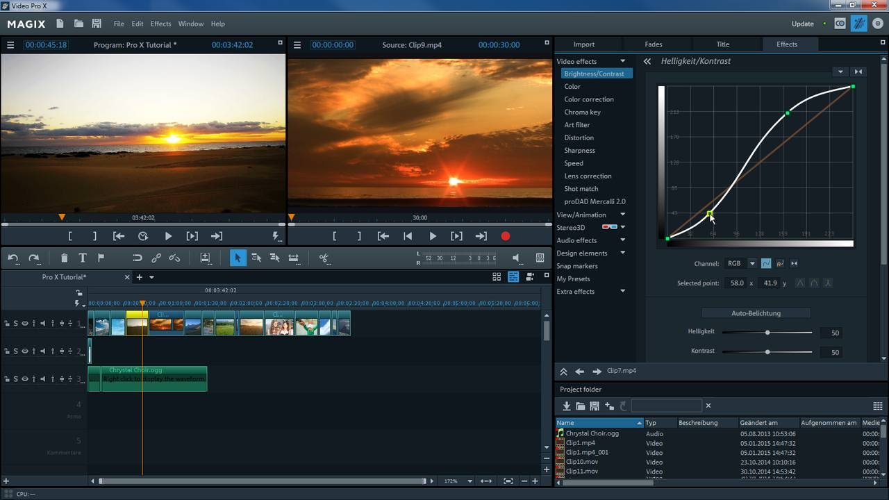 Magix Video Pro X Introductory Video Tutorial Int Youtube