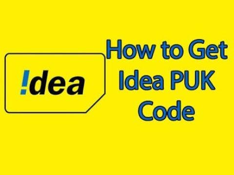 Idea sim puk nikale 2 minutes me.// how to get sim PUK code.