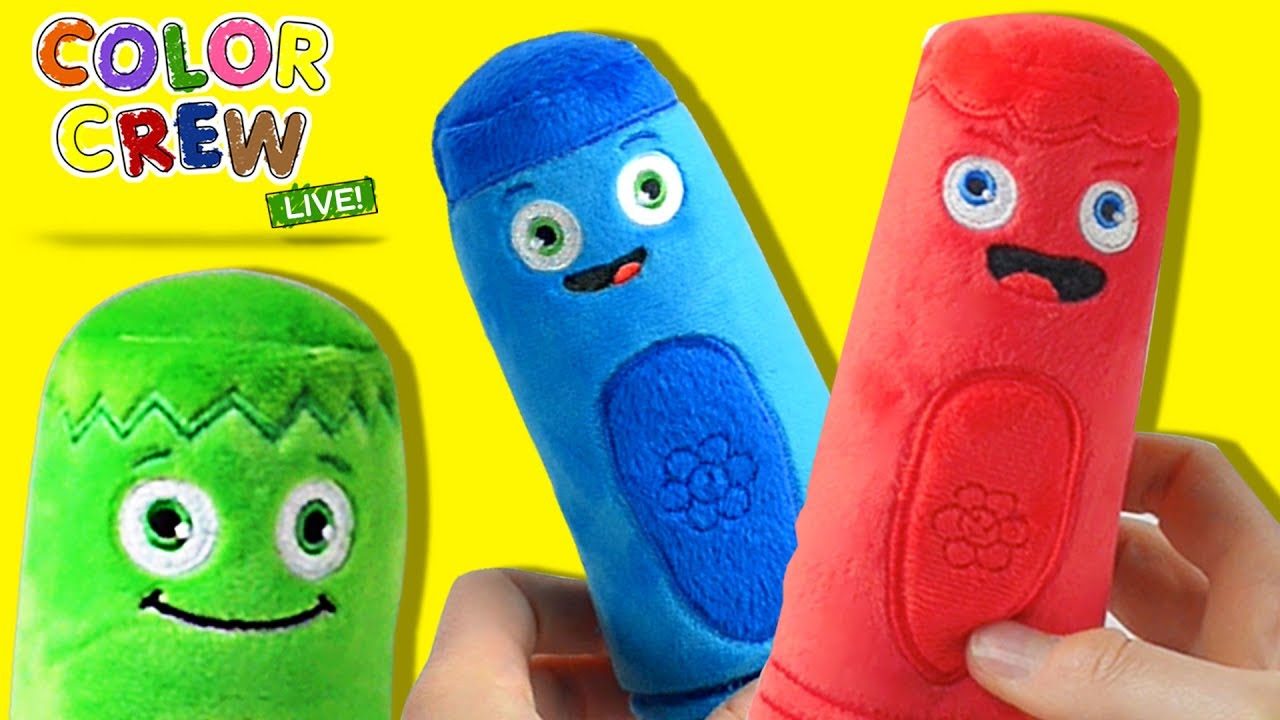 Coloring Time Learning Colors With Color Crew Live Plush