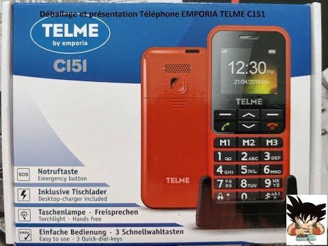 Déballage et présentation Téléphone portable EMPORIA Telme C151 en Français (FR)