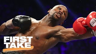 Glove Size Favors Floyd Mayweather Over Conor McGregor | First Take | ESPN
