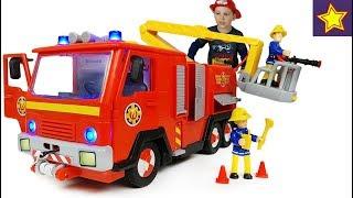 Пожарная машина Пожарный СЭМ со светом, звуком и водой Fire Truck for kids