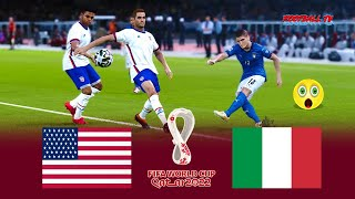 USA vs ITALY FIFA World Cup 2022 Full Match All Goals eFootball PES 2021 Gameplay