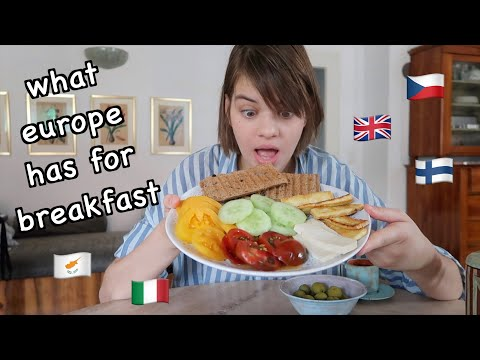 5 Different Breakfasts From Around Europe (Finland, Cyprus, UK, Czech Republic, Italy) 🥐🍓🥒