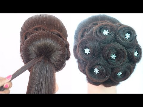 new juda hairstyle for wedding | party hairstyle | latest hairstyle | ladies hair style | hairstyle thumbnail
