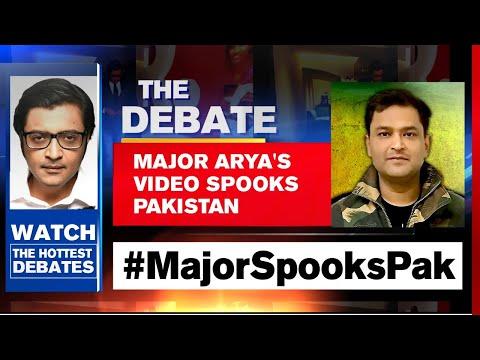 Maj Gaurav Arya's Warning Spooks Pakistan | The Debate With Arnab Goswami