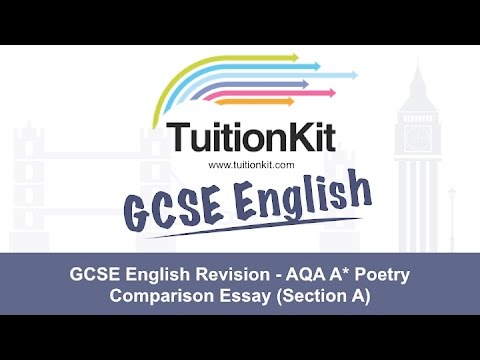 Gcse English Revision  Aqa A Poetry Comparison Essay Section A Gcse English Revision  Aqa A Poetry Comparison Essay Section A Locavore Synthesis Essay also Argument Essay Paper Outline  High School Memories Essay