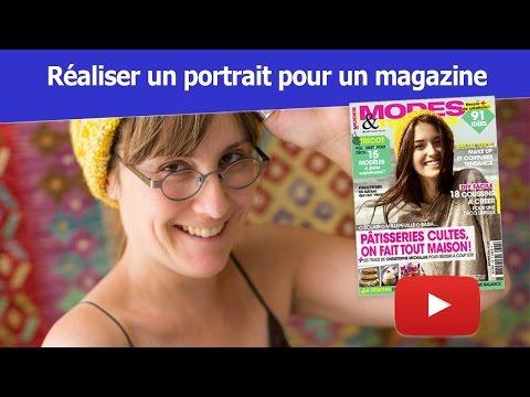 Portrait de magazine - Reportage pour Modes et Travaux