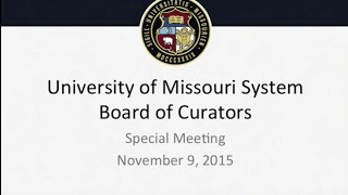 Statement from tim wolfe: university of missouri board curators special meeting