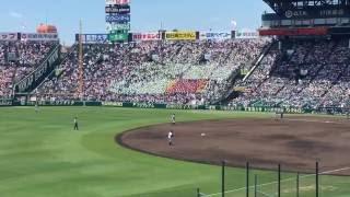 2016年夏の甲子園、長野県代表の佐久長聖高校の応援 ・「必殺仕事人」 ...