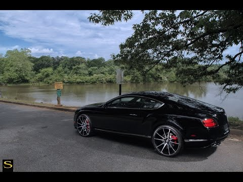 Bentley GT V8 S   Black Di Forza BM12   Savini Wheels   Butler Tires & Wheels