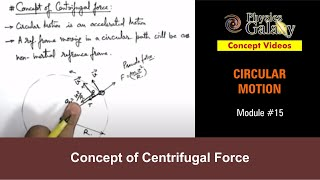 15. Physics | Circular Motion | Concept of Centrifugal Force | by Ashish Arora