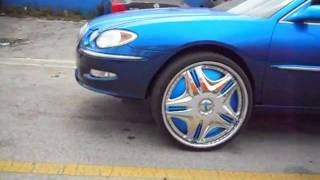 """MHP-Candy Teal Buick Lacrosse on 26"""" Dub Cream Floaters"""