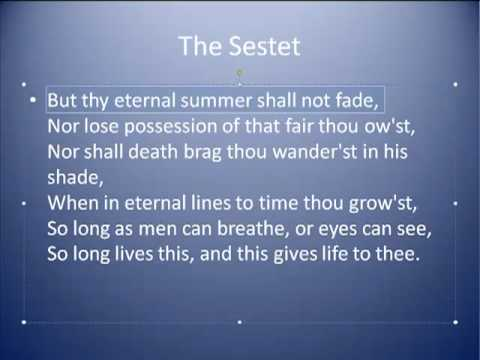 how structure affects sonnet 73 Sonnet 73, as one would expect of a shakespearean sonnet, turns distinctly between the third quatrain and the final couplet the third poem, william wordsworth's there was a boy , turns profoundly between its two stanzas.