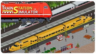 BUILDING a TRAIN STATION in a city of VANDALS! | Train Station Simulator Gameplay