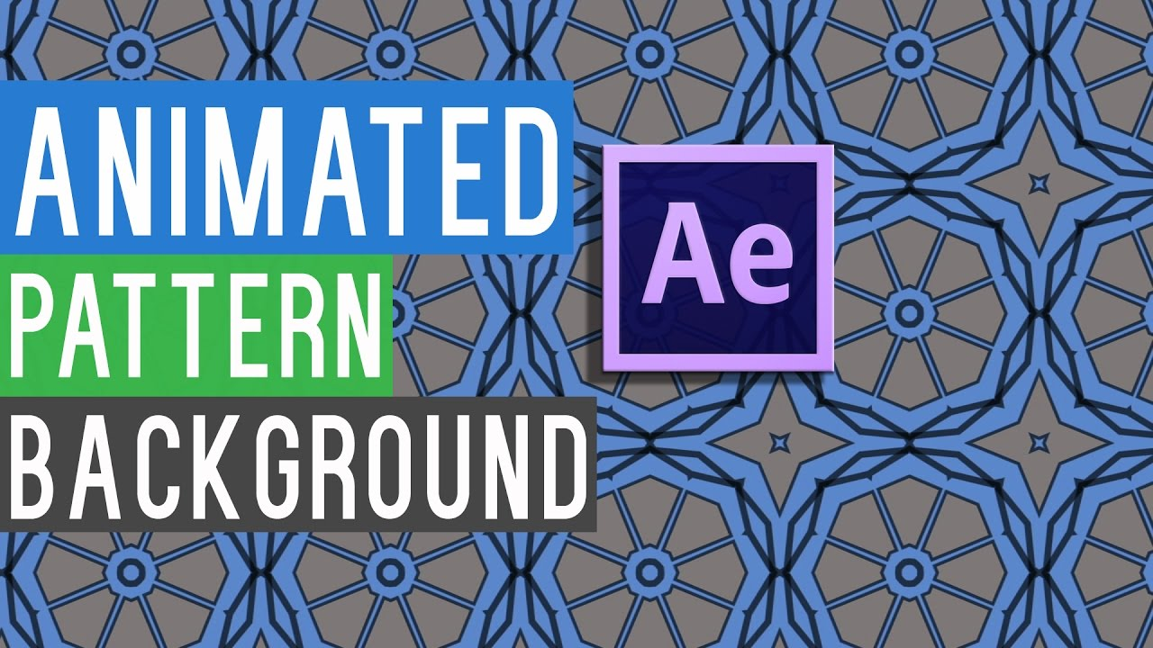 Animated Pattern Backgrounds In Adobe After Effects + Free Template l Full  Tutorial For Beginners